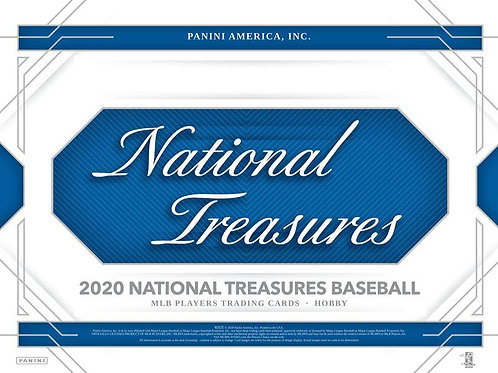 BGB1271 2020 PANINI NATIONAL TREASURES 1case 14-HIT DRAFT