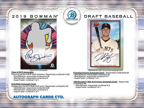 MLB 2019 BOWMAN DRAFT JUMBO box #bowman #draft