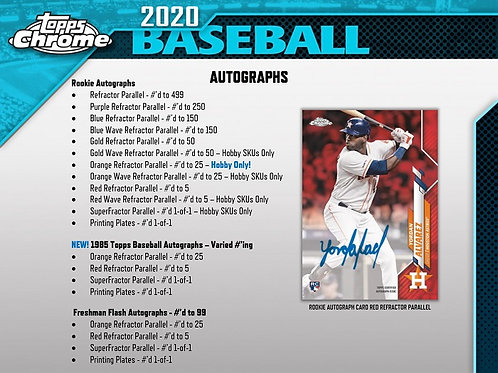 MLB 2020 TOPPS CHROME Hobby box #LuisRobert #BoBichette #Topps