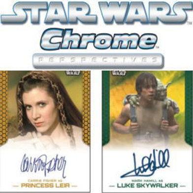 映画トレカ 2015 STAR WARS Chrome Perspectives Jedi vs Sith #CarrieFisher #MarkHamil