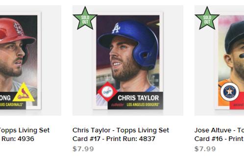 TOPPS LIVING SET Week6 3cards set #mlb #baseball #toppslivingset