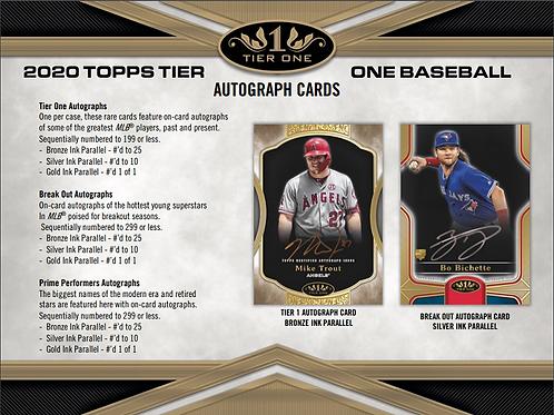 MLB 2020 TOPPS TIER ONE Baseball box #TOPPS #BASEBALL #MLB #BoBichette