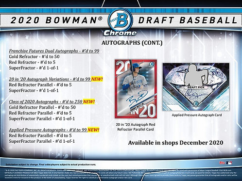 MLB 2020 BOWMAN DRAFT JUMBO Baseball box #BOWMAN #TOPPS