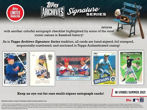 MLB 2021 TOPPS Archives Signature Series Retired box #TOPPS #野球カード #メジャーリーグ