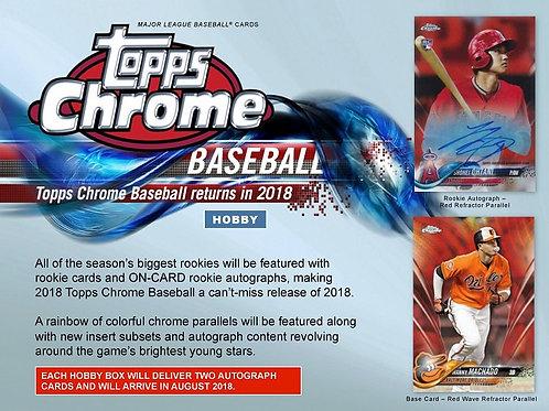 MLB 2018 TOPPS CHROME HOBBY box #大谷翔平 #大谷カード