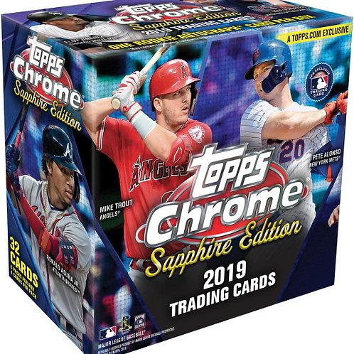 購入制限2箱 MLB 2019 TOPPS CHROME SAPPHIRE box #petealonso #guerrerojr