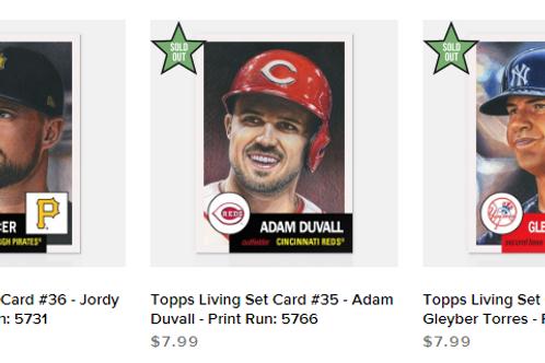 TOPPS LIVING SET Week12 3cards set #mlb #baseball #toppslivingset