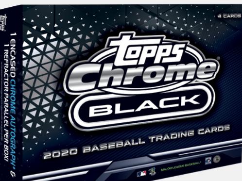 MLB 2020 TOPPS CHROME BLACK Baseball box #BoBichette #Topps #LuisRobert