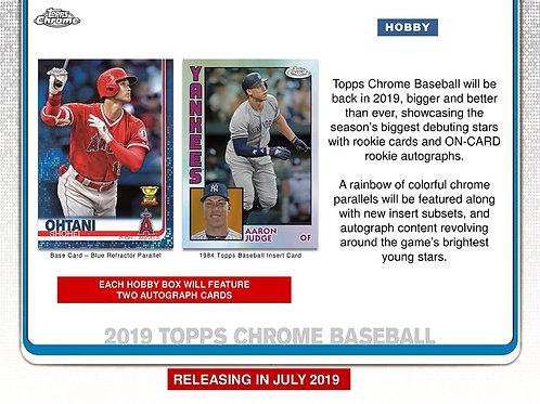 MLB 2019 TOPPS CHROME Hobby Baseball box #MLB #大谷翔平 #GUERREROJr #ALONSO