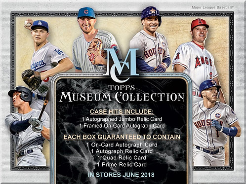 ラストです BGB849 MLB 2018 TOPPS MUSEUM COLLECTION 1case 24-AUTO MINIBOX DRAFT