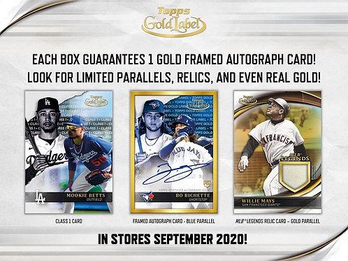 MLB 2020 TOPPS GOLD LABEL Baseball box #LuisRobert #BoBichette #Topps