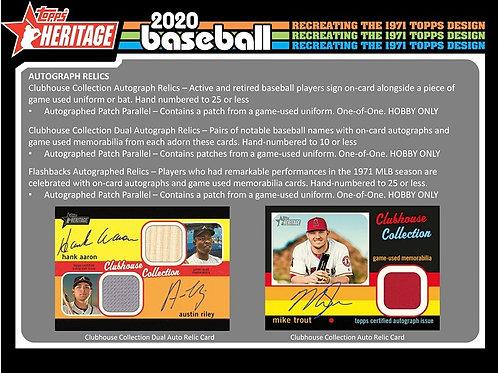 MLB 2020 Topps HERITAGE box #TOPPS #BASEBALL #MLB #Alvarez