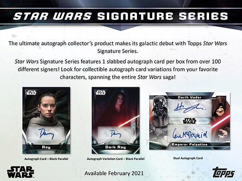 2021 Topps Star Wars Signature Series box #StarWars #スターウォーズ