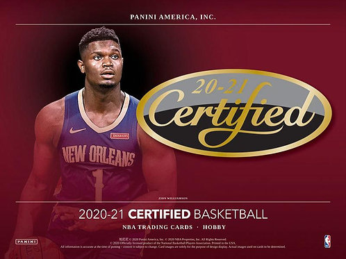 1人2箱制限 NBA 2020-21 Panini CERTIFIED Hobby box #NBA #wiseman #ball #panini