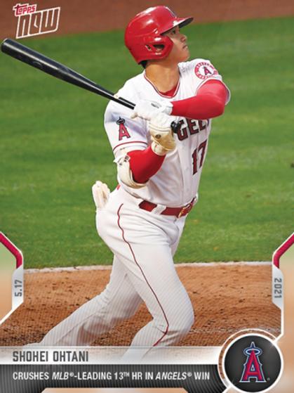 大谷翔平 2021 MLB TOPPS NOW Card #225 LEAD 13HR #大谷翔平 #大谷カード #ShoheiOhtani