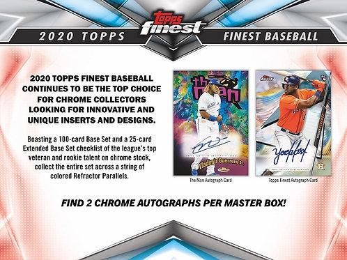 MLB 2020 TOPPS FINEST Hobby box #TOPPS #BASEBALL #MLB #BoBichette