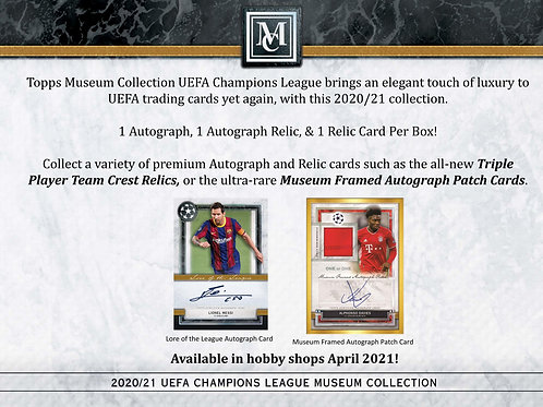 SOCCER 2020-21 TOPPS CL MUSEUM COLLECTION box #Topps #Bellinhgam #Messi