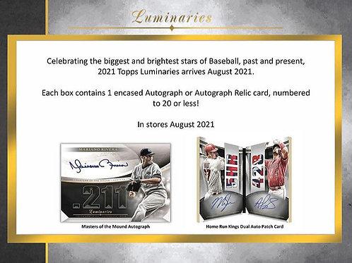 MLB 2021 TOPPS LUMINARIES Baseball box #TOPPS #野球カード #メジャーリーグ