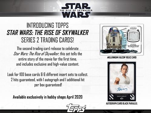 映画トレカ Topps Star Wars The Rise of Skywalker Series2 box #サイン #StarWars #スターウォーズ
