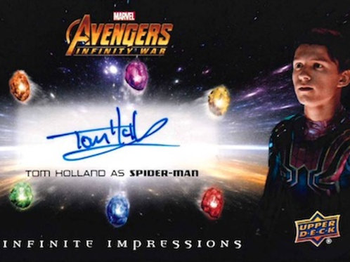 映画 2018 Upper Deck Avengers Infinity War box #Marvel #TomHolland #サイン