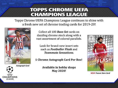 1人1箱制限 SOCCER 2019-20 TOPPS CHROME UEFA CHAMPIONS LEAGUE box #Topps #サッカー