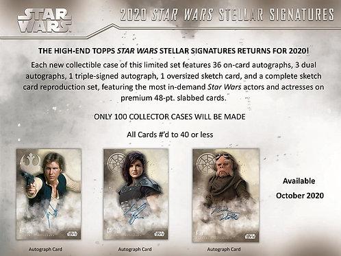 BGB1256 2020 TOPPS STAR WARS STELLAR Signatures 1case 41-HIT DRAFT #starwars