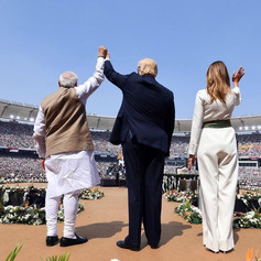 President Trump-First Lady Malania Trump with PM Modi in India At a Rally Attented By 110 K People
