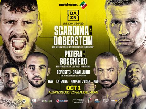 Scardina nel clou di una grande notte di boxe il 1 ottobre a Milano