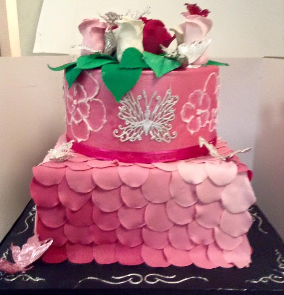 Pink Celebration Cake
