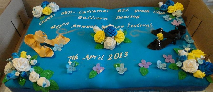 Corporate Ballroom Dancing Cake