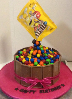 m&ms Birthday cake