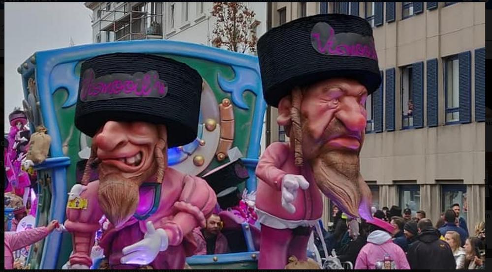 Float in Aalst, Belgium parade last week
