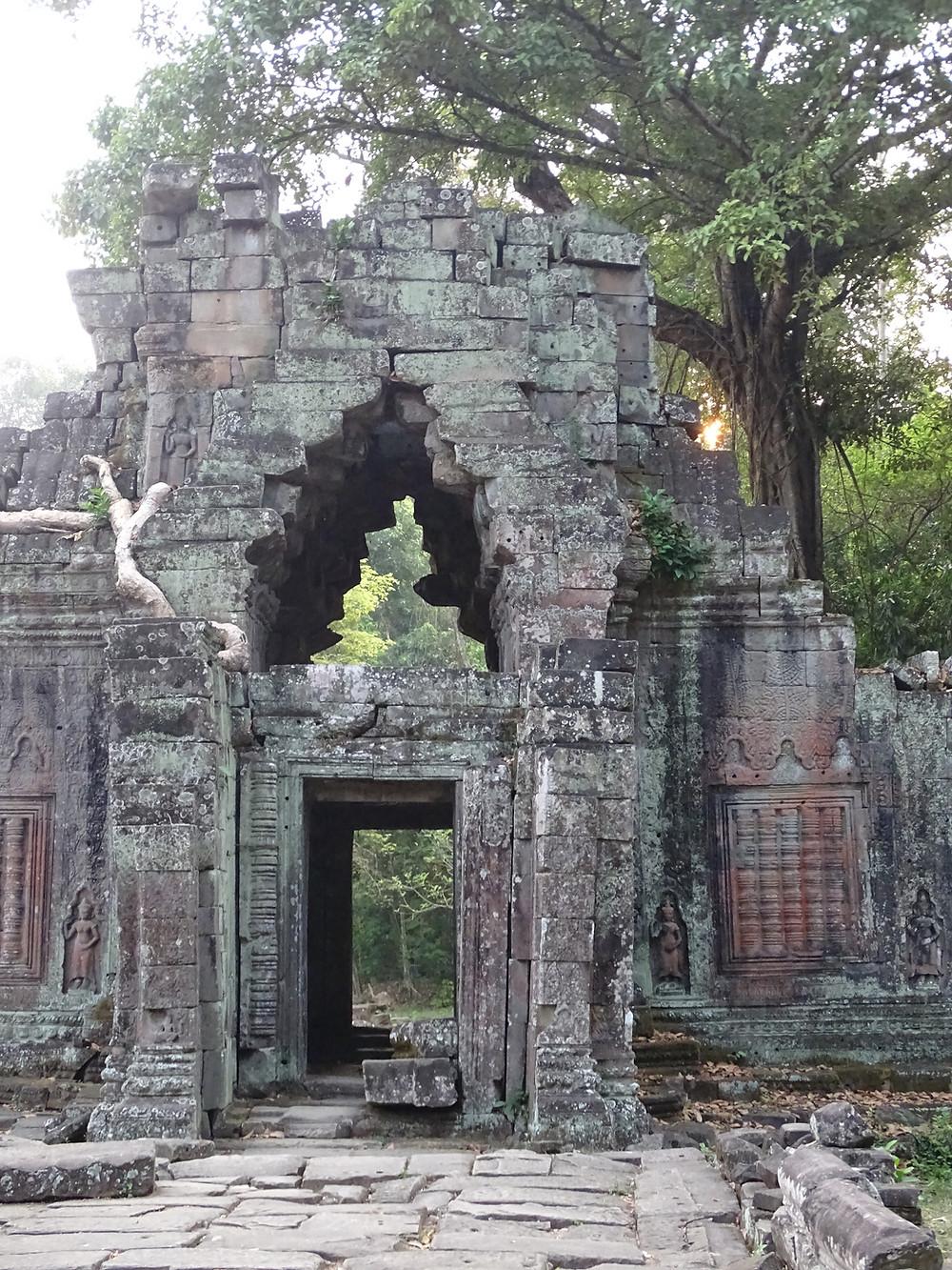 Siem Reap, Cambodia temple at sunrise