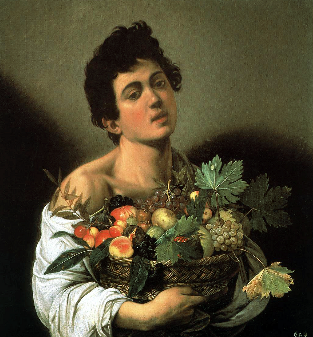 Caravaggio, Boy with a Basket of Fruit