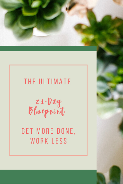 The Ultimate 21-Day Blueprint: Get More Done, Work Less