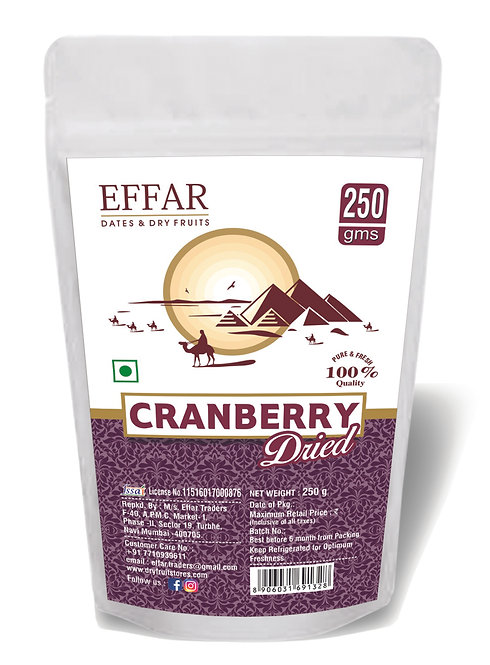 Dried Cranberry 250g