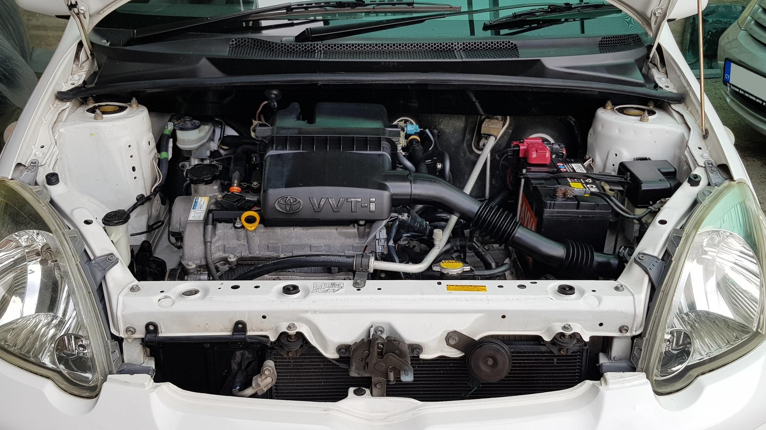 Toyota Vitz White 06