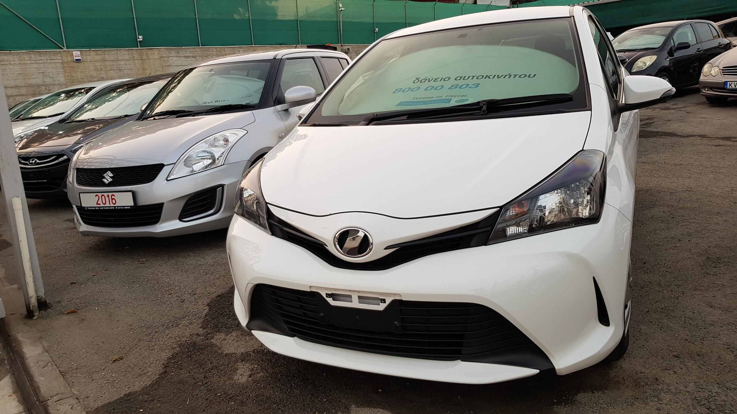 Toyota Vitz 2015 White 01