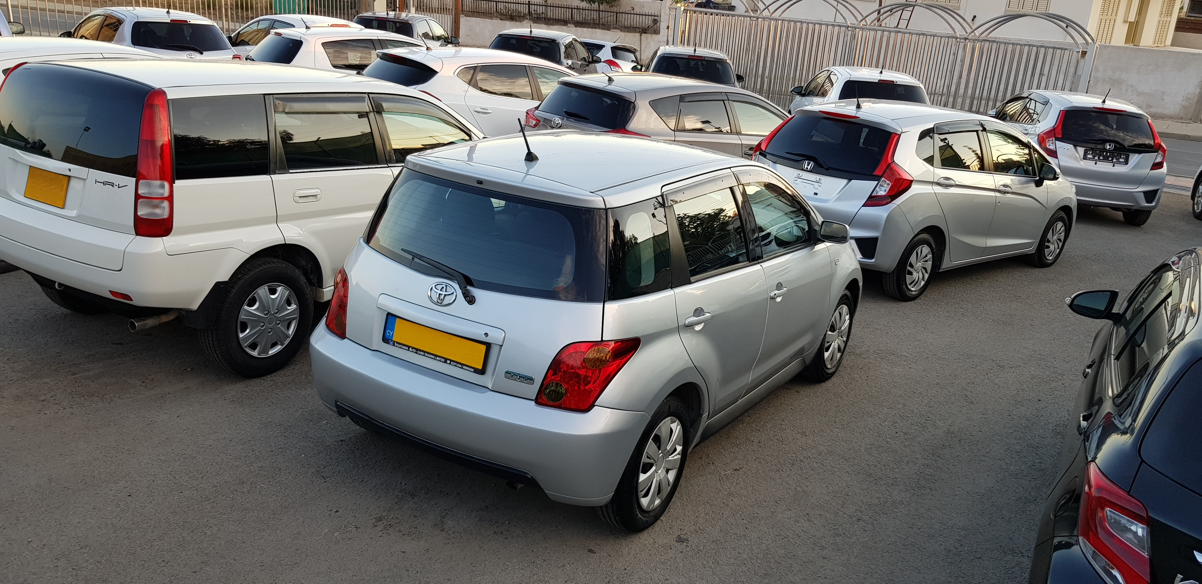 Toyota Ist Silver Back Side