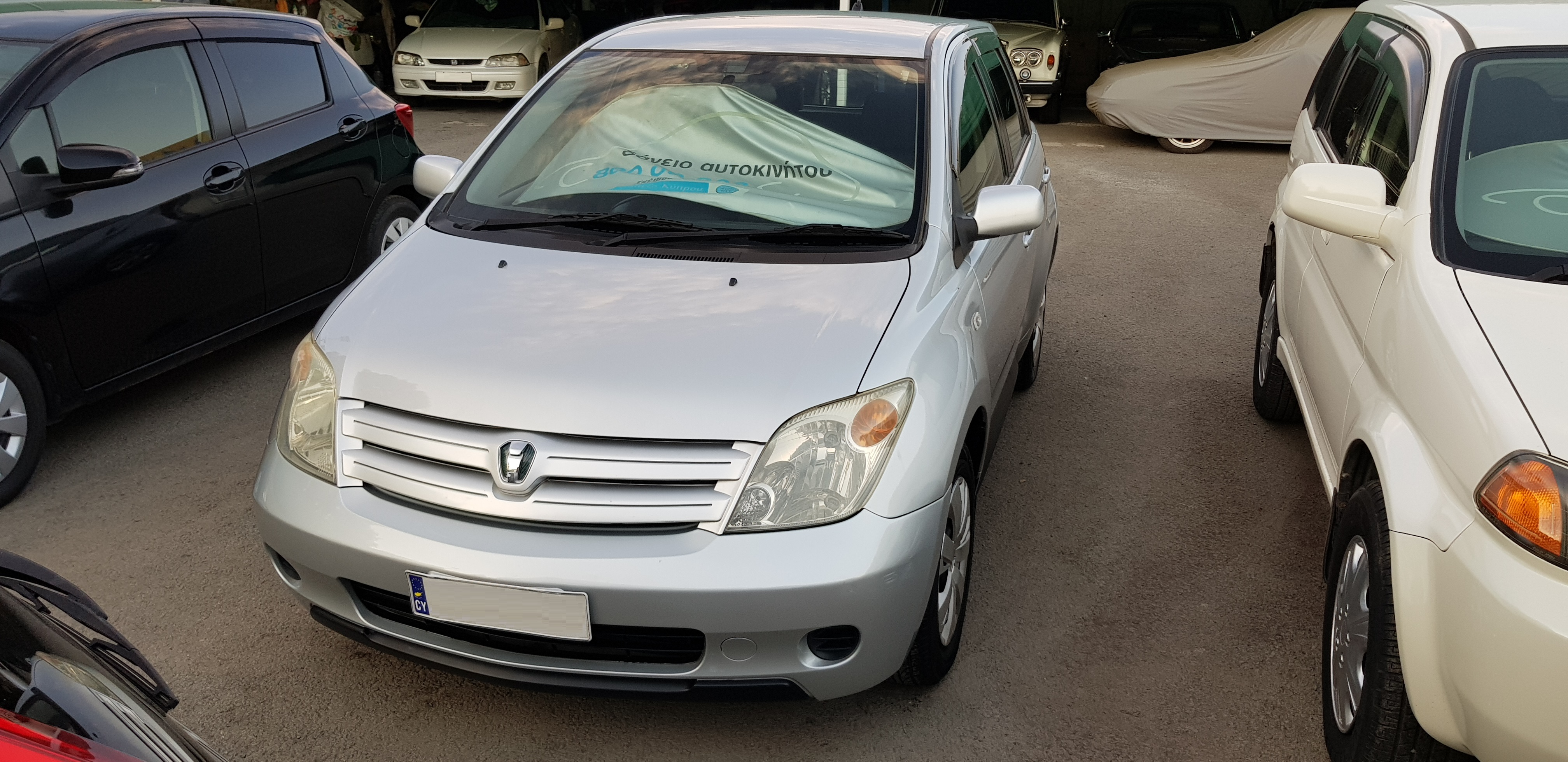 Toyota Ist Silver Front