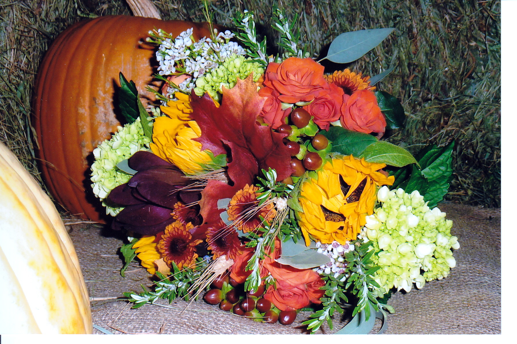 Sunflower and leaf bouquet.jpg