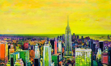 Yellow Sunset in New York (SOLD)