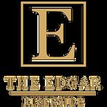 The Edgar Logo (Black OutLine) (White) -