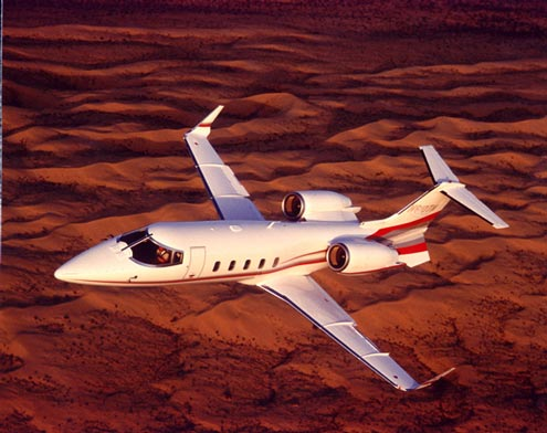 Lear 60 flying