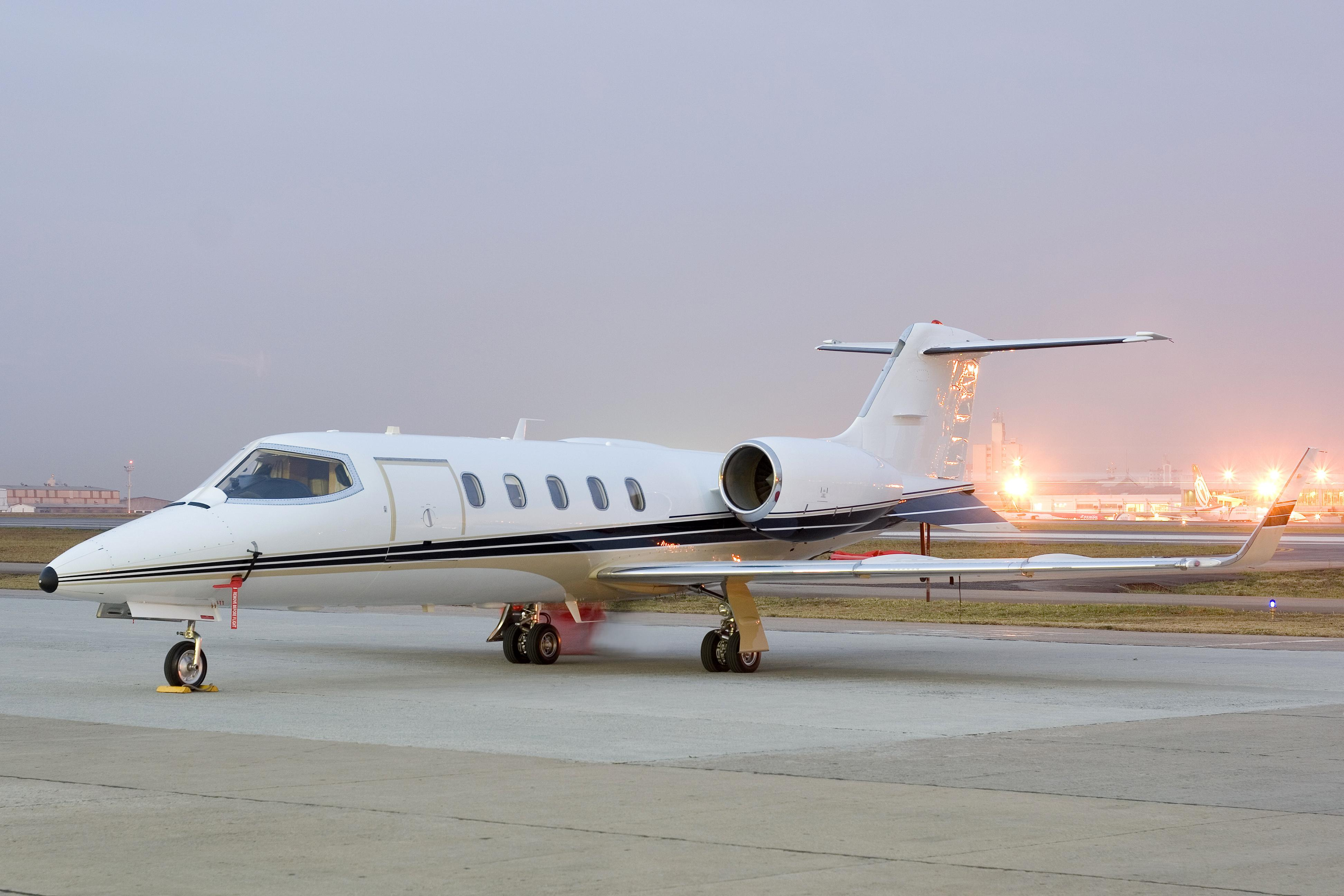 Lear 31 on ground