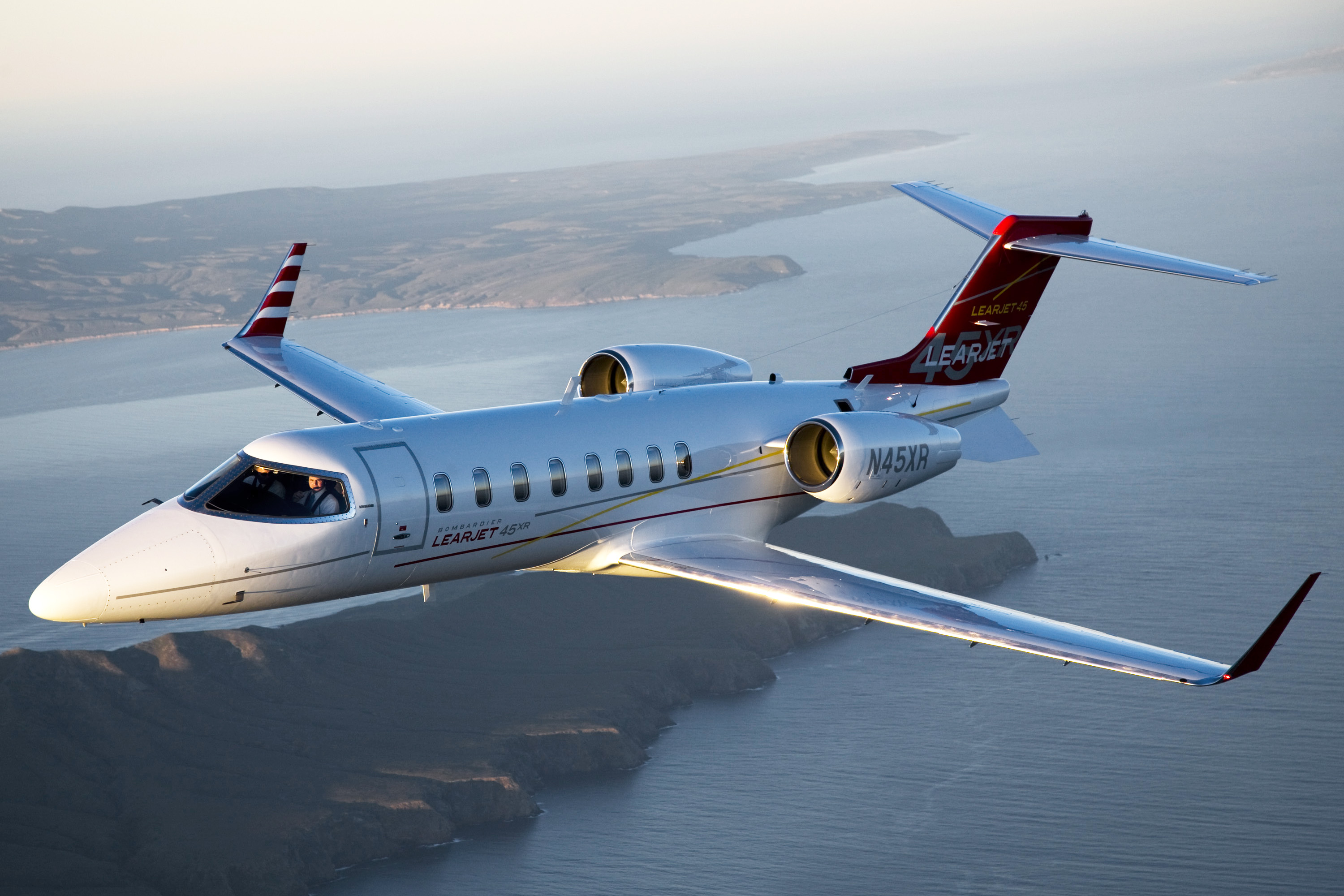 Lear 45 in air