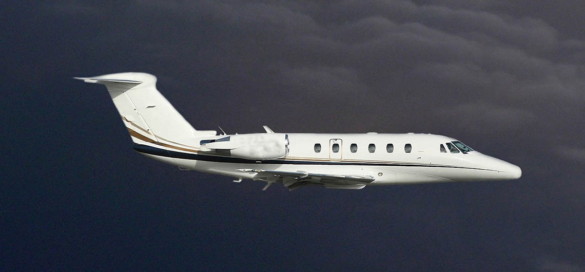 Citation III flying