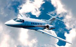 Hawker 1000 flying