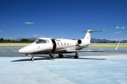 Lear 55 on ground