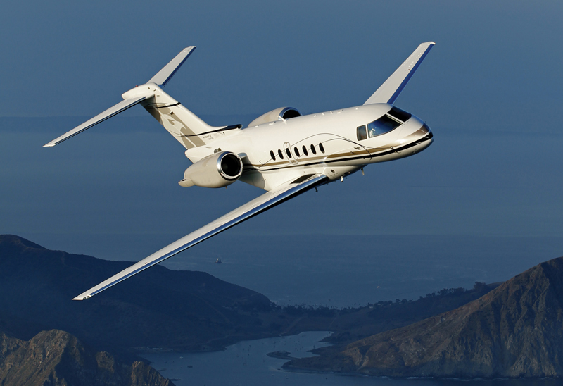 Hawker 4000 flying
